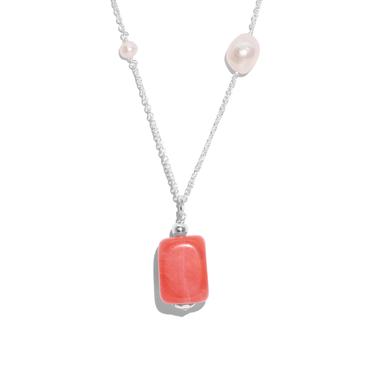The Silver Cherry Drop Necklace