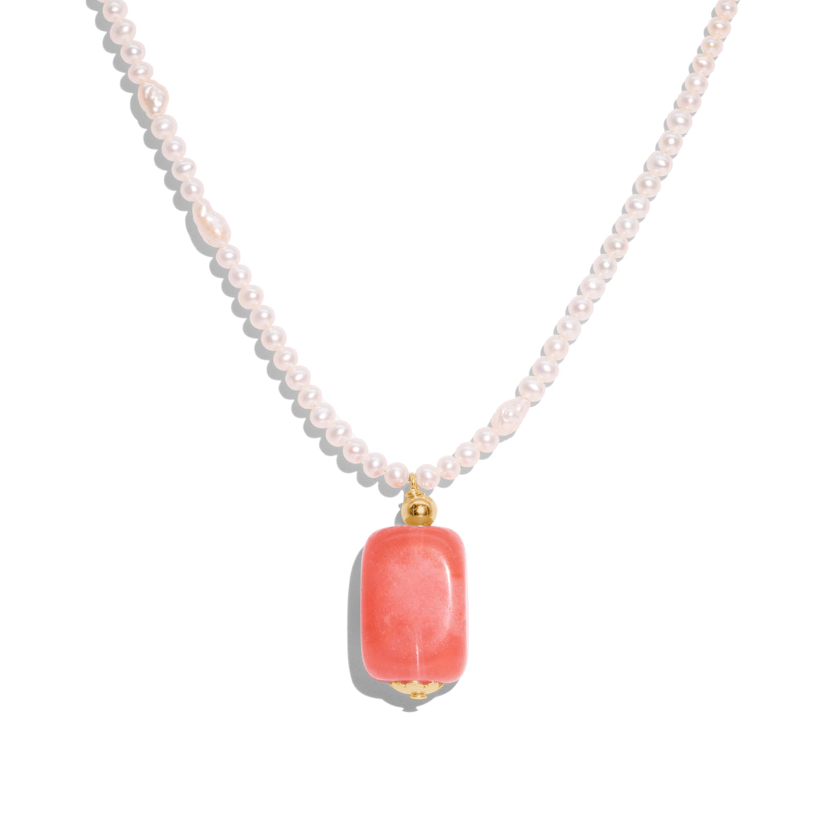 The Gold Cherry Drop Frost Necklace