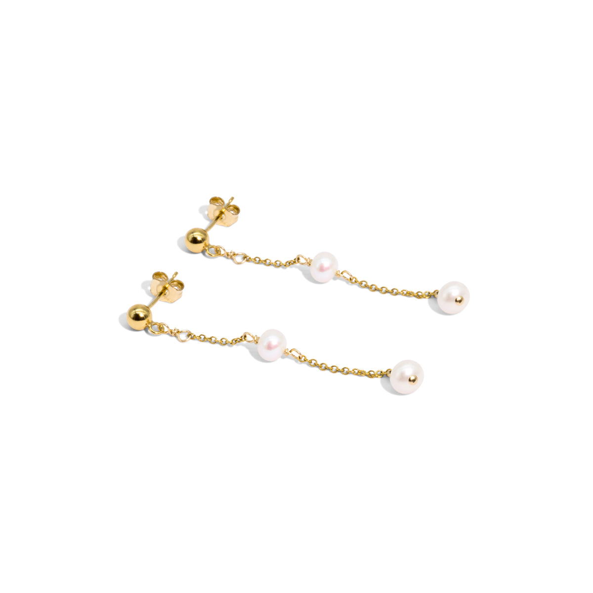 The Gold Mini Plato Drop Earrings