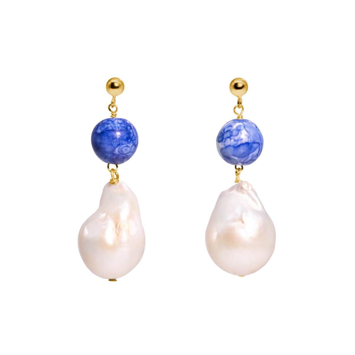 The Gold Violet Drop Earrings