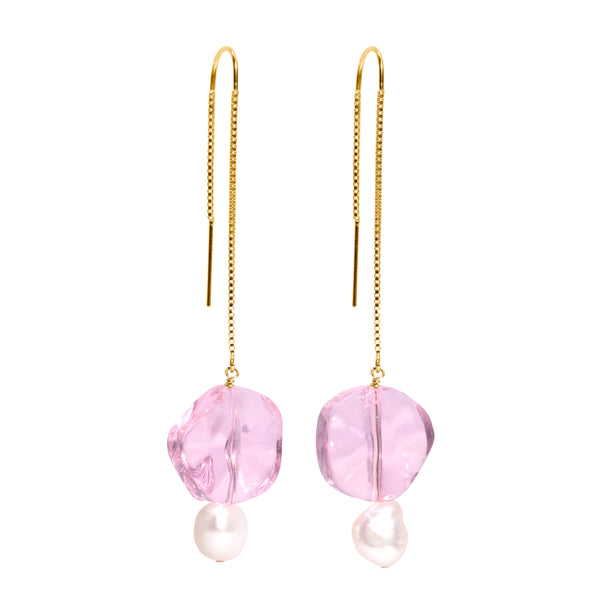 The Gold Candy Cloud Threader Earrings