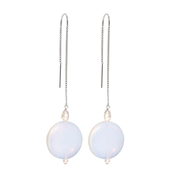 The Silver Sherbet Drop Threader Earrings