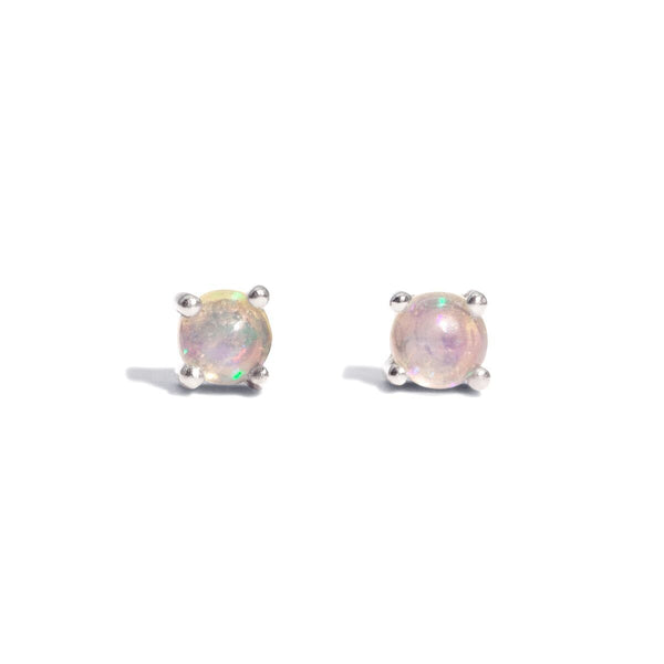 The Silver Opal Droplet Stud Earrings