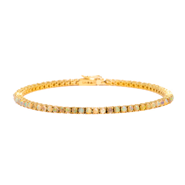 The Gold Opal Droplet Tennis Bracelet