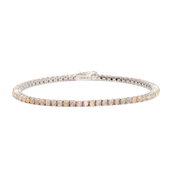 The Silver Opal Droplet Tennis Bracelet