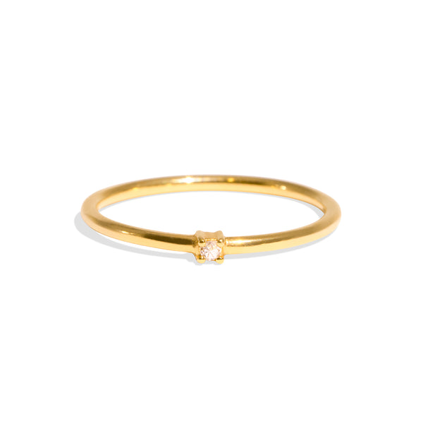 The Gold Diamond Dot Ring