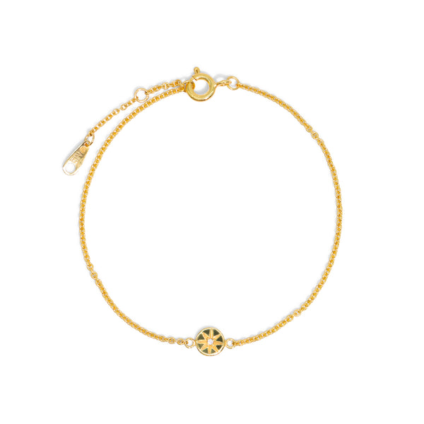 The Gold Diamond Compass Bracelet