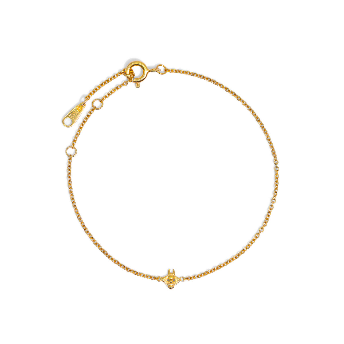 The Gold Tiny Bumble Bee Bracelet
