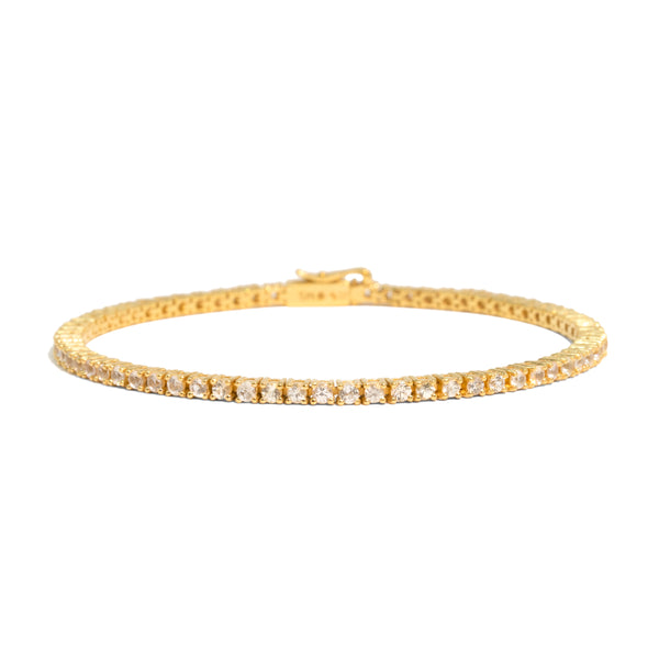 The Gold White Sapphire Tennis Bracelet