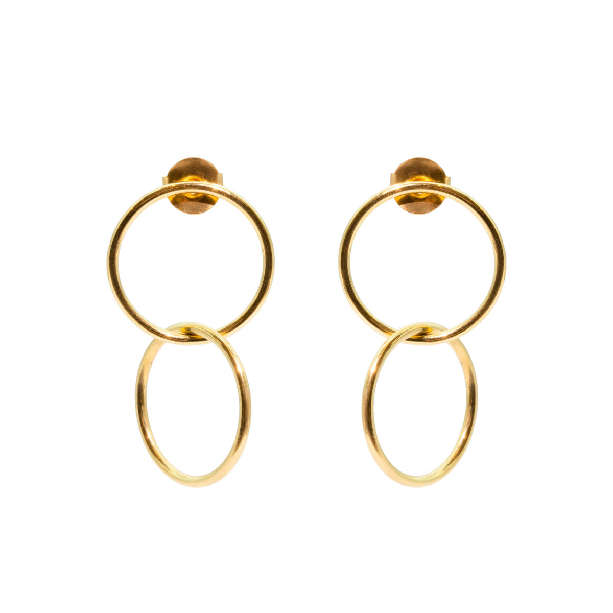The Gold Full Circle Earrings