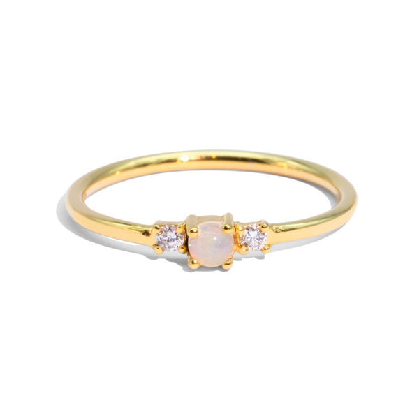 The Gold Diamond & Opal Trio Ring