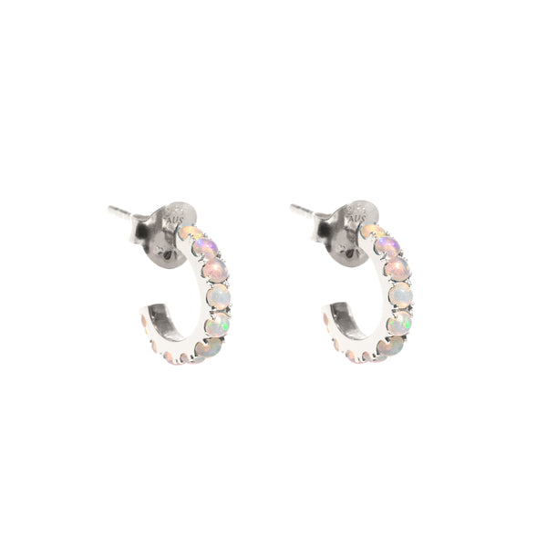 The Silver Diamond Bee Hoop Earrings