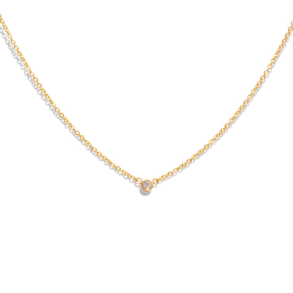 The Gold Diamond Speck Necklace