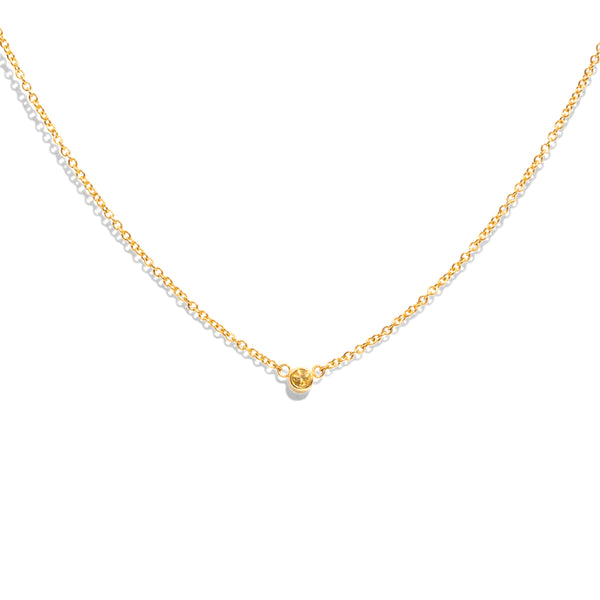 The Gold Yellow Sapphire Sunshower Necklace