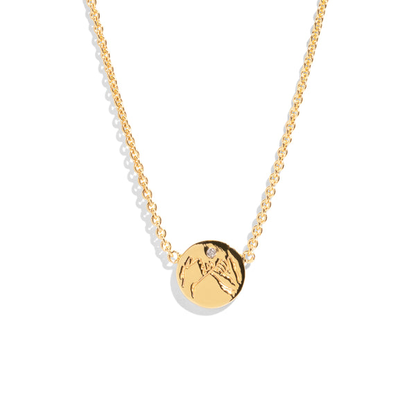 The Gold Diamond Mini Pinky Promise Necklace