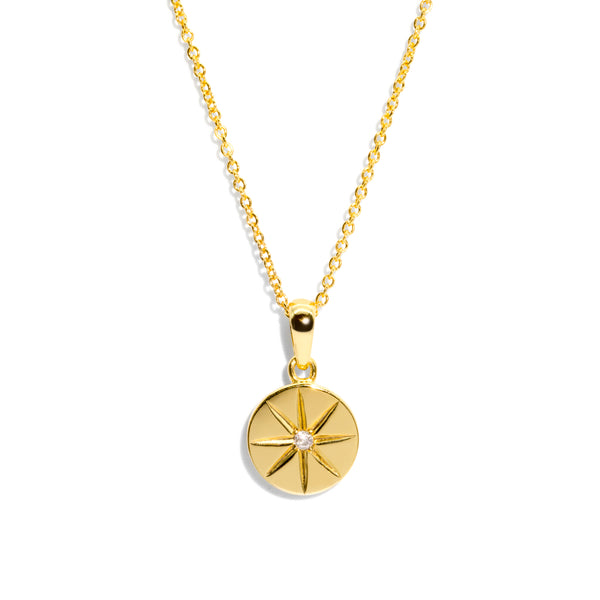 The Gold Diamond Compass Necklace