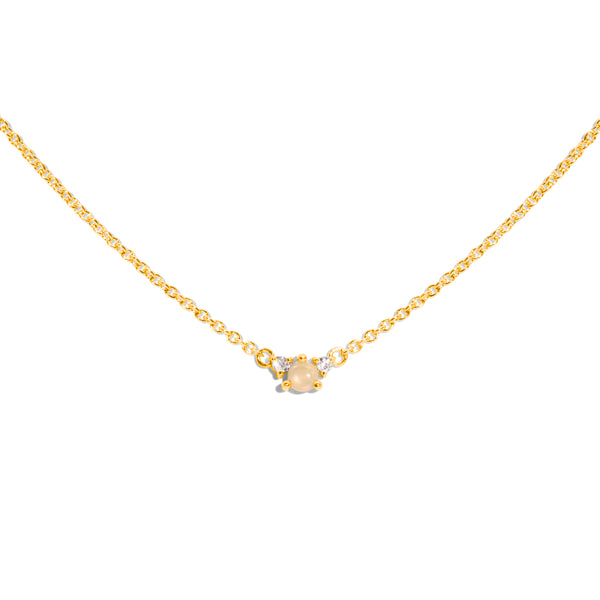 The Gold Opal & Diamond Trio Necklace