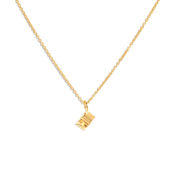 The Gold Tiny Book Necklace
