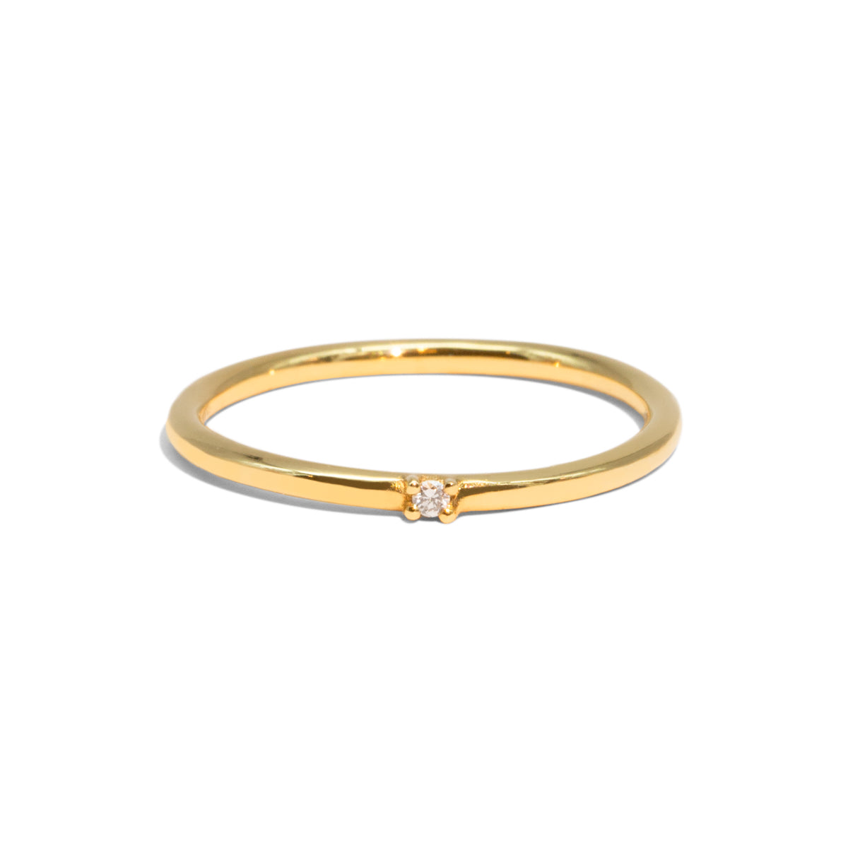 The Gold Diamond Speck Ring
