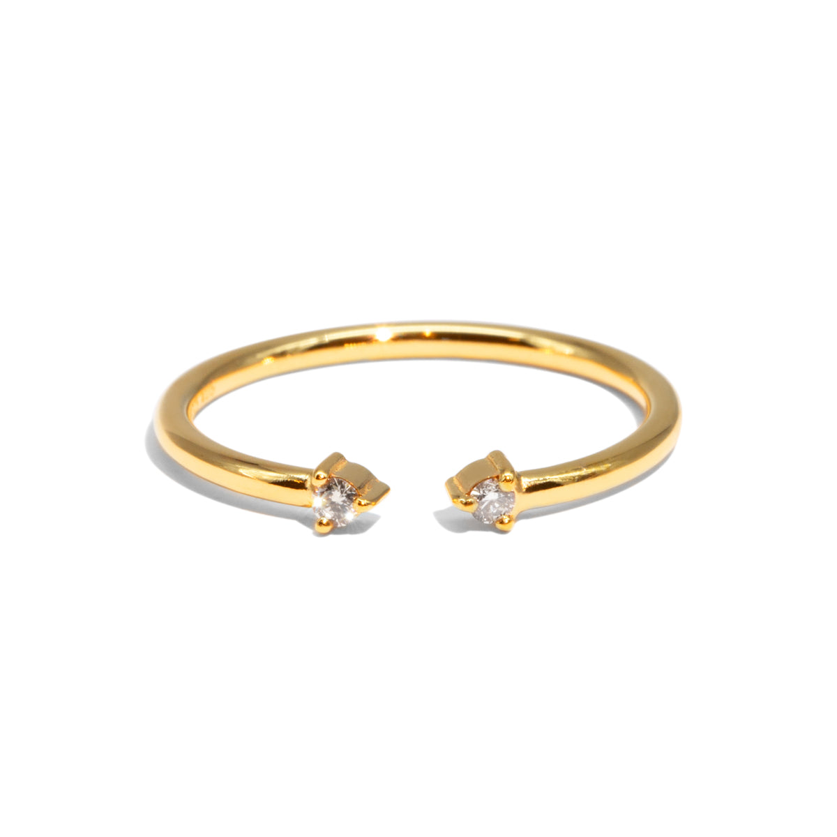 The Gold Diamond Duo Ring