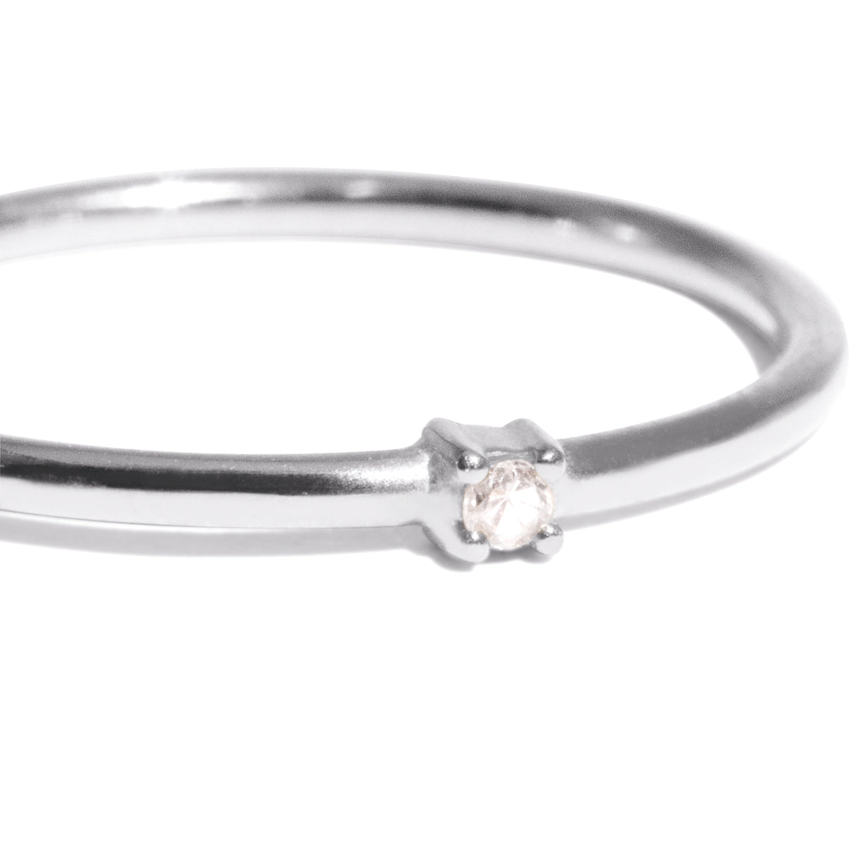 The Silver Diamond Speck Ring