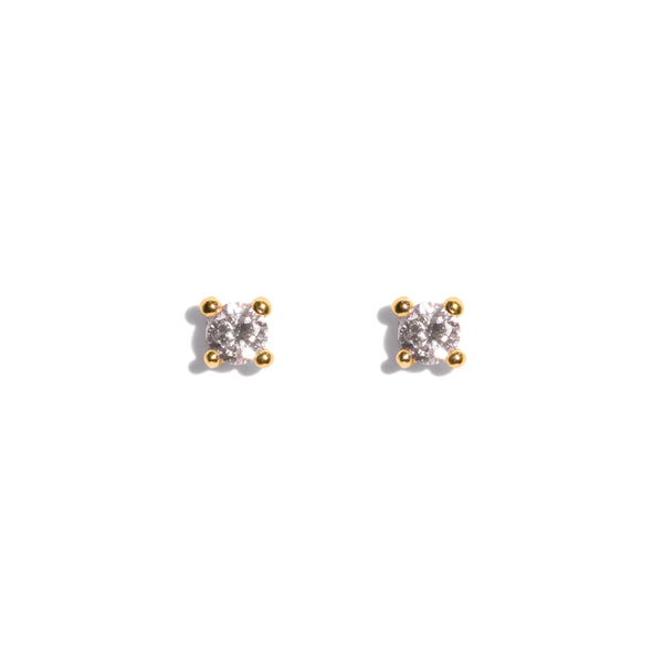 The Gold Diamond Dot Stud Earrings