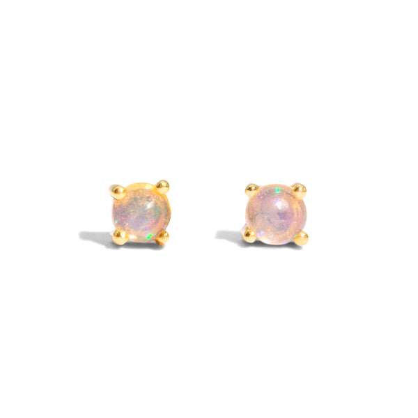 The Gold Opal Droplet Stud Earrings