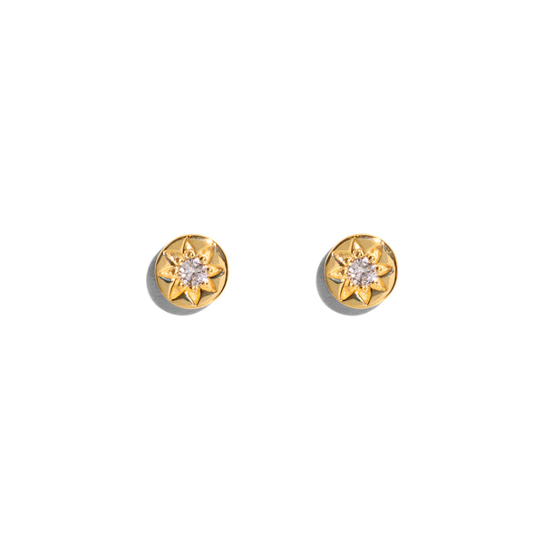 The Gold Diamond Star Set Stud Earrings