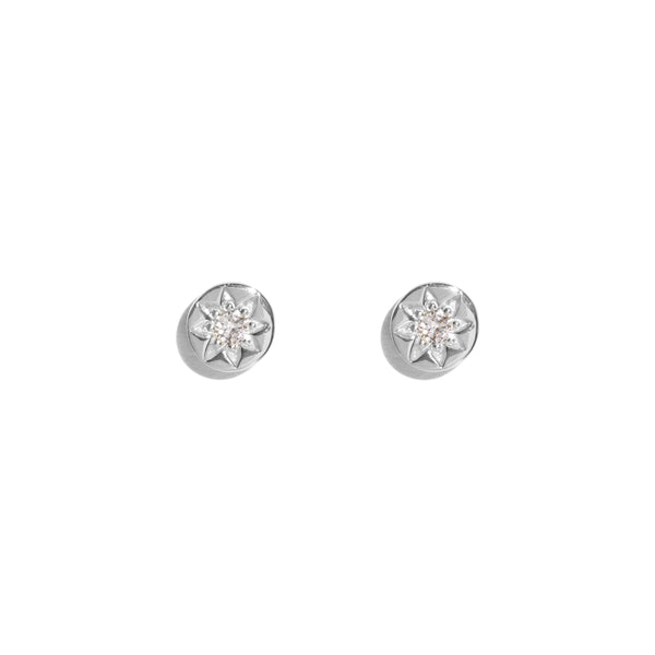The Silver Diamond Star Set Stud Earrings
