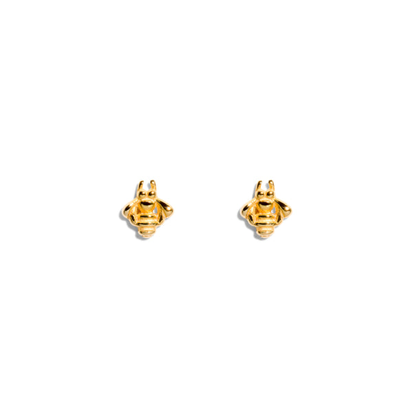 The Gold Tiny Bumble Bee Stud Earrings
