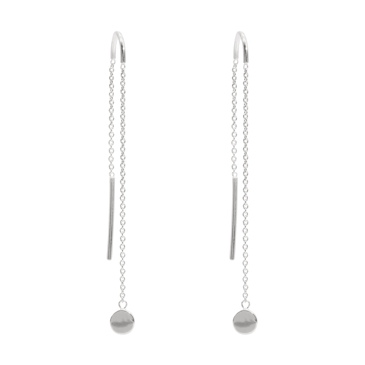 The Silver Motion Threader Earrings
