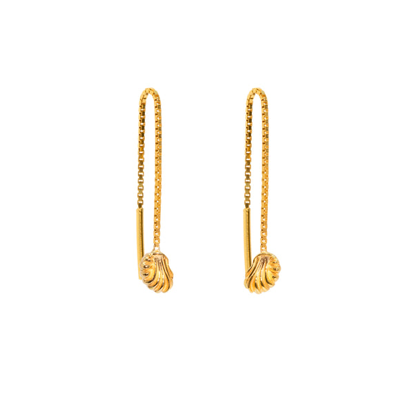 The Gold Shell Threader Earrings