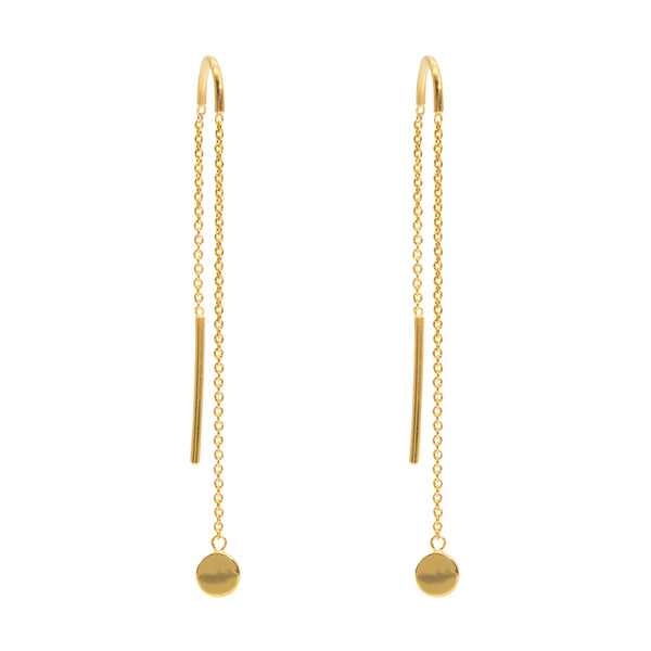 The Gold Motion Threader Earrings