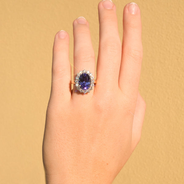 The Gloria Tanzanite & Diamond Ring