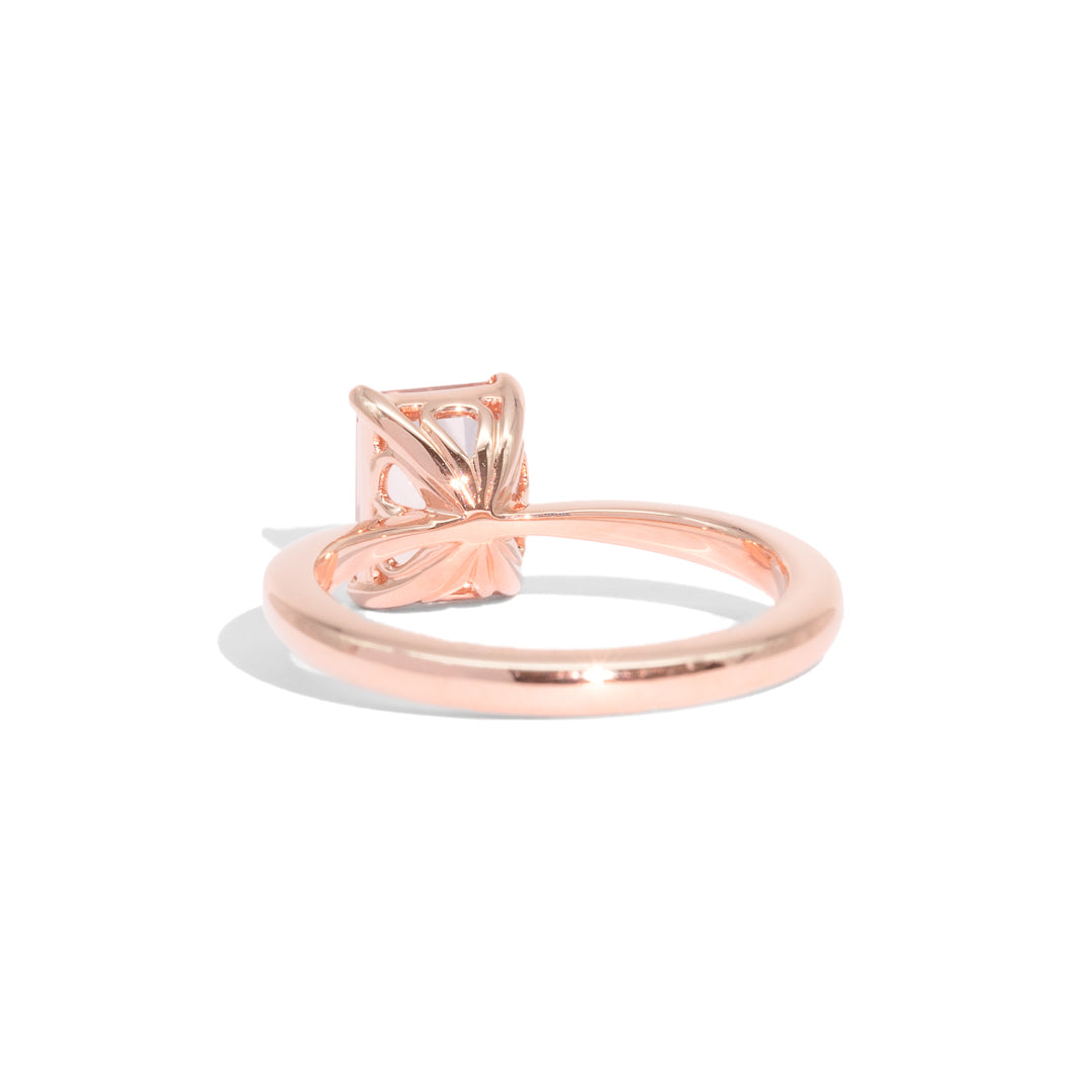 The Lily Solitaire Morganite Ring