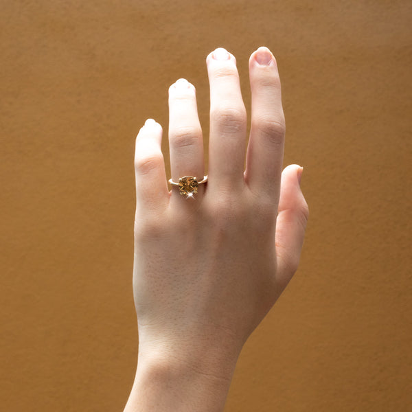 The Honey Solitaire Tourmaline Ring