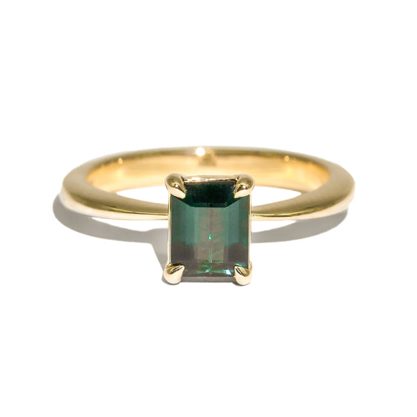 The Claudia Solitaire Tourmaline Ring