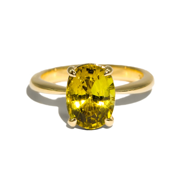 The Olive Solitaire Tourmaline Ring
