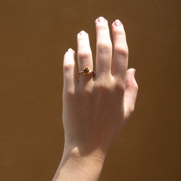 The Naomi Solitaire Tourmaline Ring