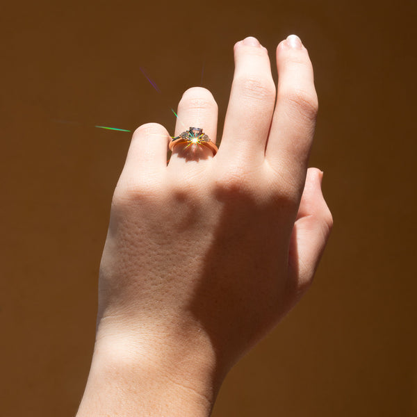 The Giselle Three Stone Spinel Ring