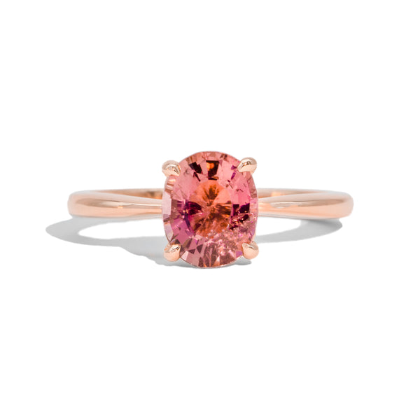 The Clara Solitaire Tourmaline Ring