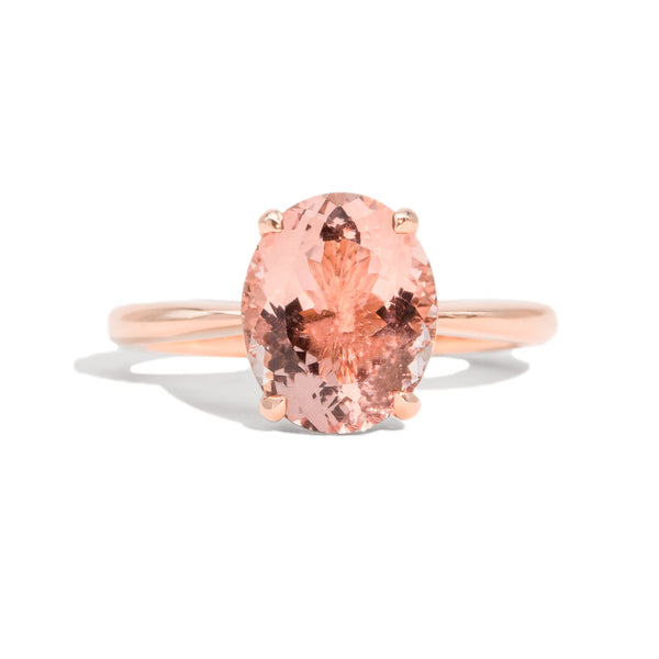 The Melody Solitaire Morganite Ring