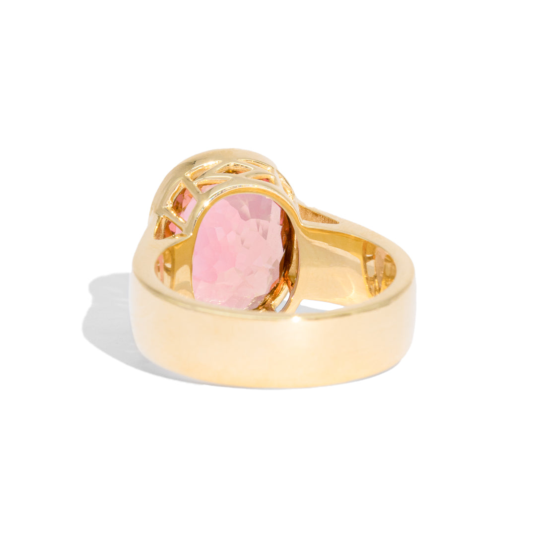 The Rosa Solitaire Tourmaline Ring