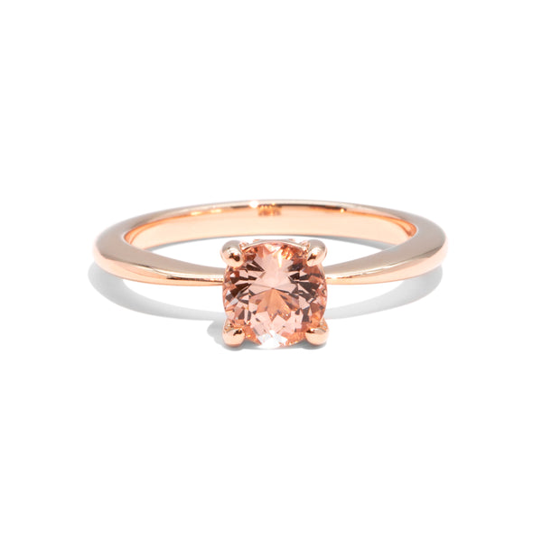 The Lady Round Cut Morganite Ring