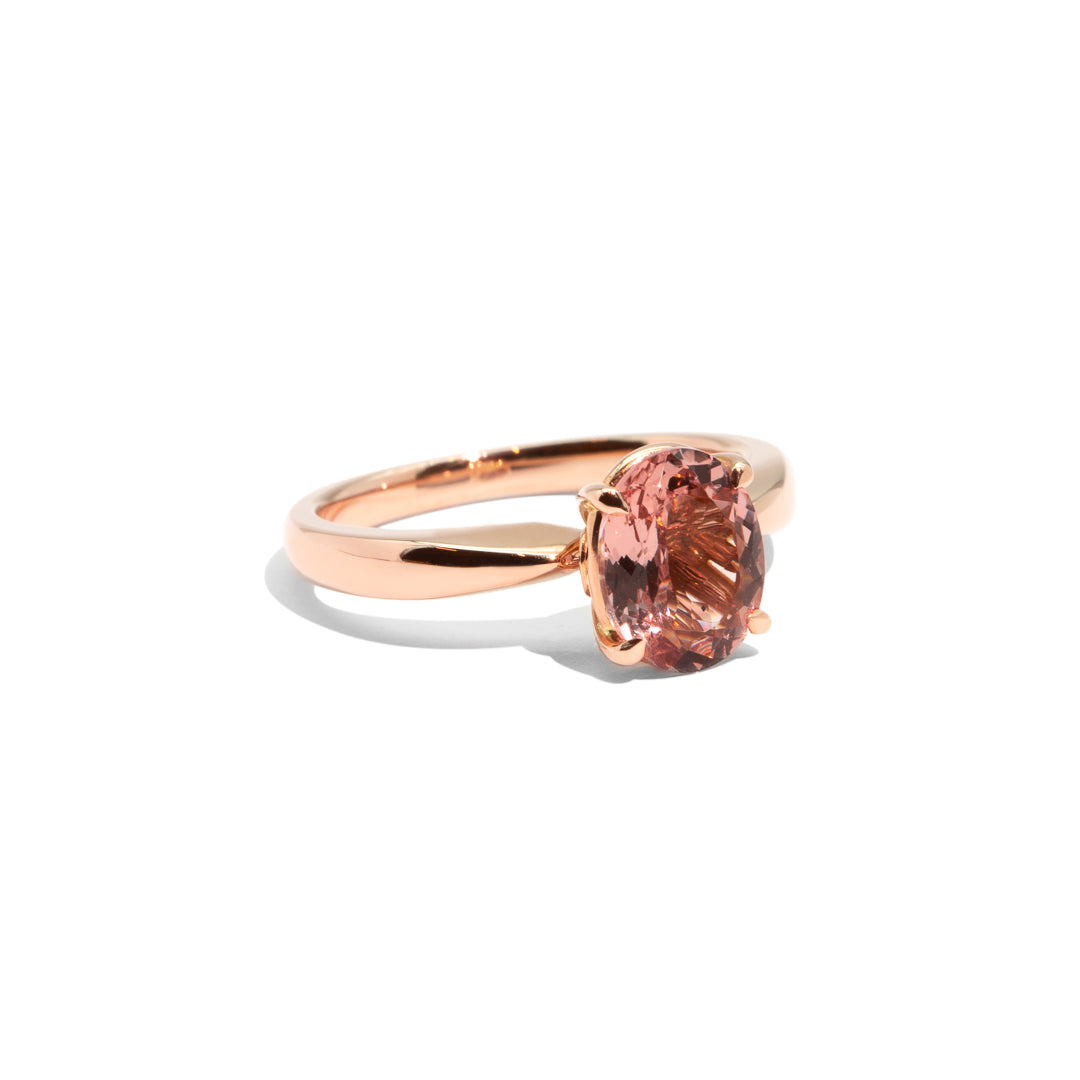 The Isla Oval Cut Morganite Ring 18ct Rose Gold