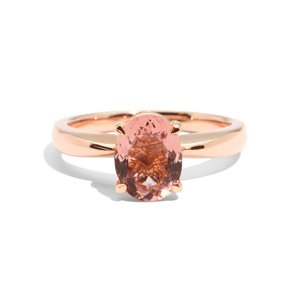 The Isla Oval Cut Morganite Ring