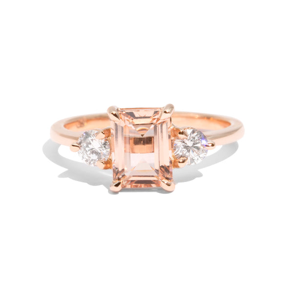 The Alice Morganite & Diamond Ring