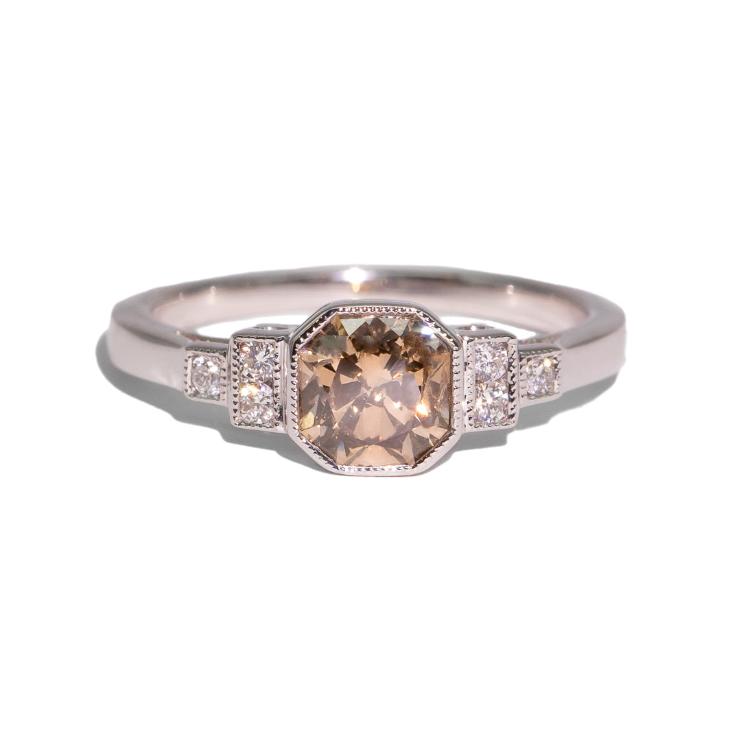 The Audrey Champagne Diamond Ring