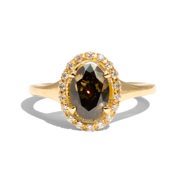The Iris Cognac Diamond Ring