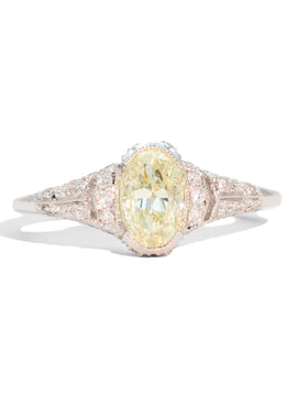 The Mabel Light Fancy Yellow Diamond Ring